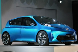 Cordless charging in the Toyota Prius C Concept