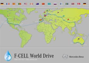 Mercedes flags off 125-day around the world F-CELL World Drive to proof safety and reliability of fuel cell