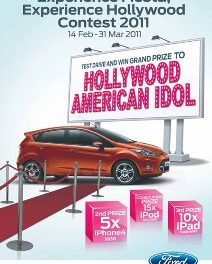 Test drive a Ford Fiesta and you might be going to LA to watch American Idol