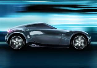 Nissan to show off their new Esflow. It is the Leaf with a sporty persona