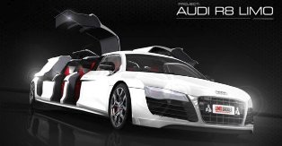 Audi R8 V10, the World's Fastest Limo