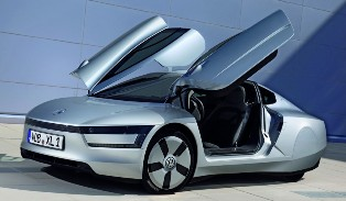 2 seater and extremely cool looking Volkswagen XL1 Super Efficient Vehicle to start production in 2013