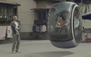 The future cars will hover above ground, like the VW Hover Car