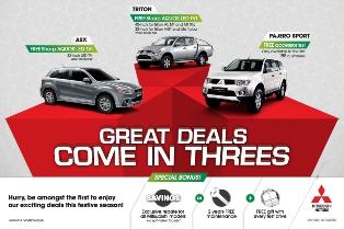 Free LED TV if you buy selected Mitsubishi vehicles this Raya