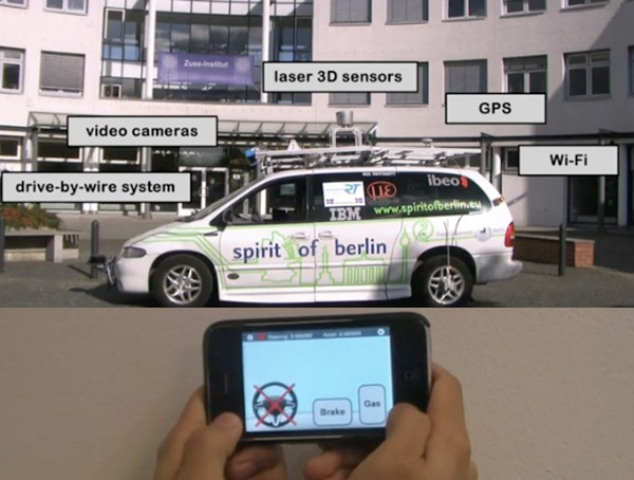 With this iPhone app, you can drive your car remotely