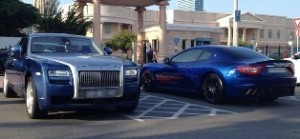 American University of Dubai's carpark – the permanent showcase of luxury and super cars