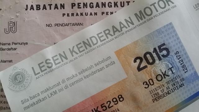 Malaysian Road Tax